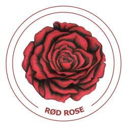 Rød-rose21x21cm